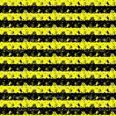 Cats Eye Yellow and Black Halloween Nightmare Stripes