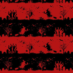 Blood Red and Black Halloween Nightmare Stripes