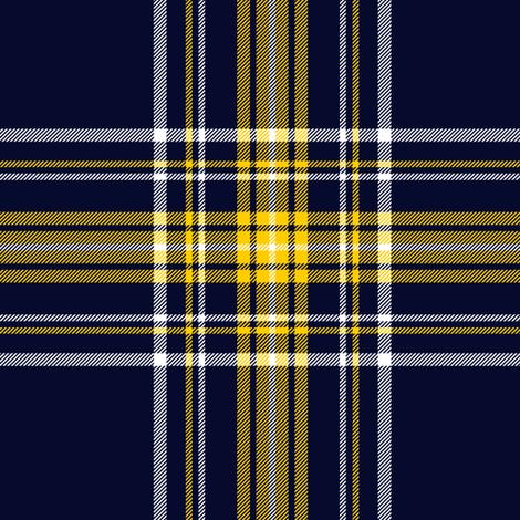 Stuart/Stewart tartan, custom yellow-navy variant fabric by weavingmajor on Spoonflower - custom fabric