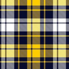 "MacGlashan tartan, yellow-navy variant, 6"""