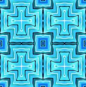 Geo Slide / Squares  Blues 3