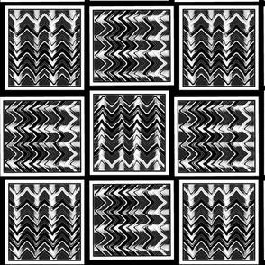 Geo Slide / Black-white 4c