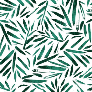 Brush Stroke Leaves-green Large