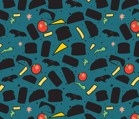 Halloween_tacos and burritos fabric by isabella_asratyan on Spoonflower - custom fabric