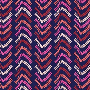 Textured stripe pattern on a navy base