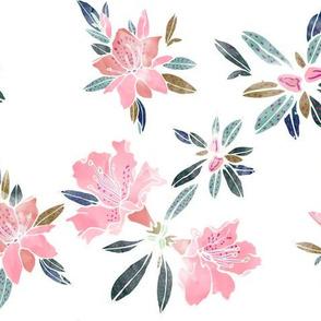 Watercolor Azaleas, Large