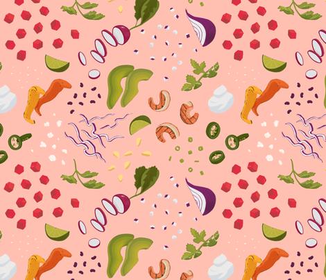 Taco Rosa fabric by caleb_luke_lin on Spoonflower - custom fabric