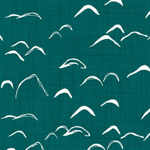 Mountains / Teal / Green