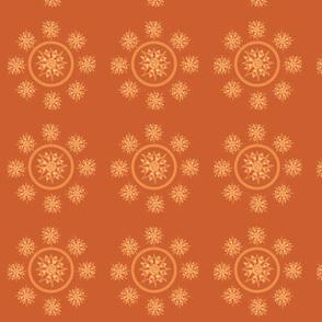 orange yellow sun mandala ring