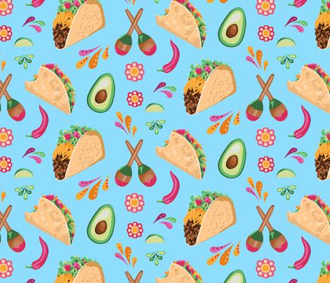 Taco Time fabric by melanie_hodge on Spoonflower - custom fabric
