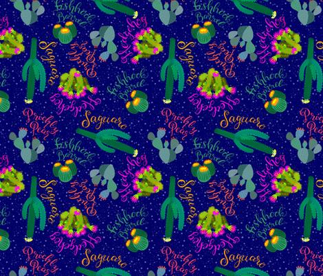 Desert Days - Cool Nights fabric by denise_ortakales on Spoonflower - custom fabric