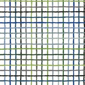 Color Lattice - blue and green