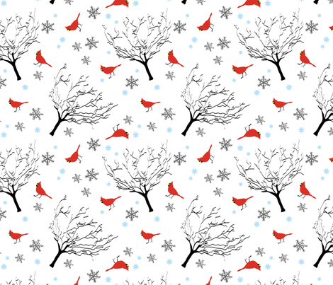 Winter Scene fabric by veritas_design on Spoonflower - custom fabric