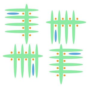 Green Blue Orange Pattern