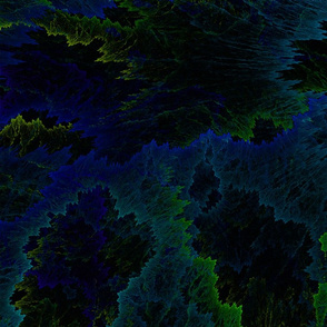 Fractal Explosion in Turquoises