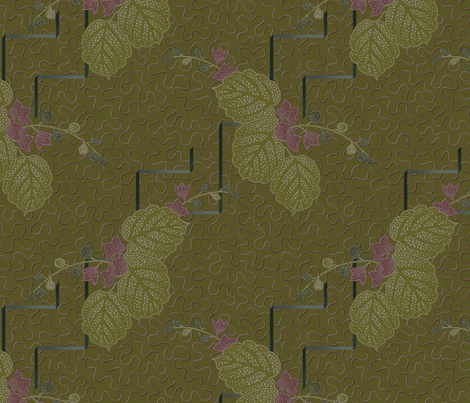 twenties olive fabric by dessineo on Spoonflower - custom fabric