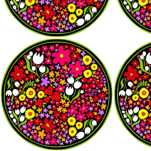 Circle of Bright Flowers 3