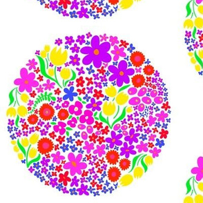 Circle of Bright Flowers 2