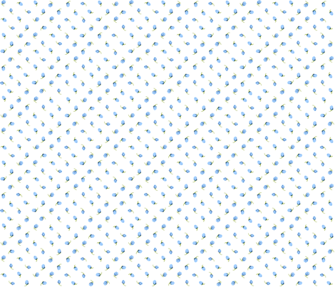 Baby blue Roses fabric by davidmichael_designs on Spoonflower - custom fabric