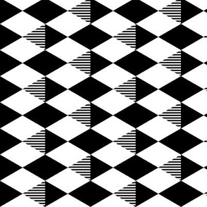 Striped Diamond Grid 3
