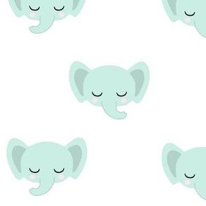 Baby Elephants - Mint