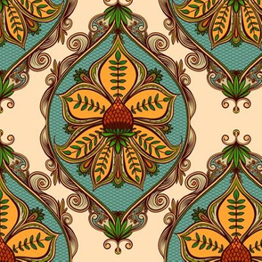Prickly Plant Damask 1