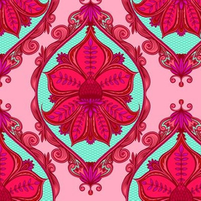 Prickly Plant Damask 2