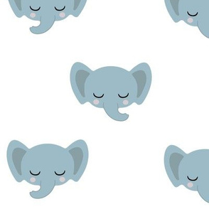 Baby Elephants - Blue