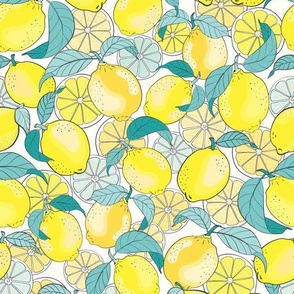 just lemons - teal