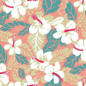 Vintage Waikiki Hibiscus-pink