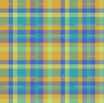 BNS5 - Tartan Plaid in Orange - Turquoise - Chartreuse