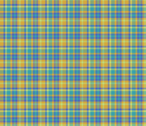 BNS5 - Tartan Plaid in Orange - Turquoise - Chartreuse fabric by maryyx on Spoonflower - custom fabric