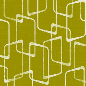 Retro Rounded Rectangles in Acid Green