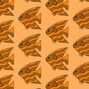 FI_7513_F Angel Fish orange and mahogany stripes on ocean tan