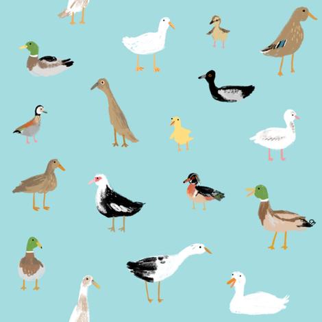 Ducks fabric by sophiecorrigan on Spoonflower - custom fabric