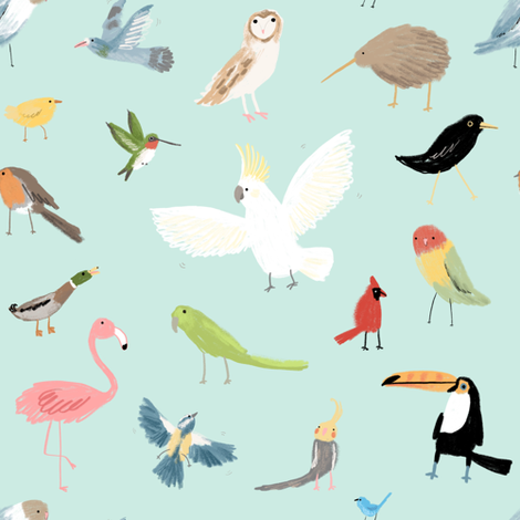 Pretty Birds fabric by sophiecorrigan on Spoonflower - custom fabric
