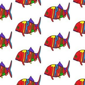 """FI_7526_C """"Big Trout"""" Primary and secondary colors on white"""