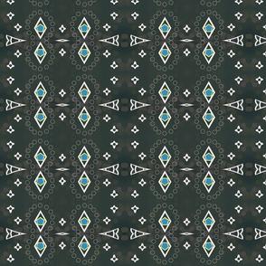 Modern Aztec 84BR- midnight blue