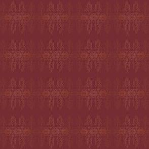 esprit lattice maroon ditsy