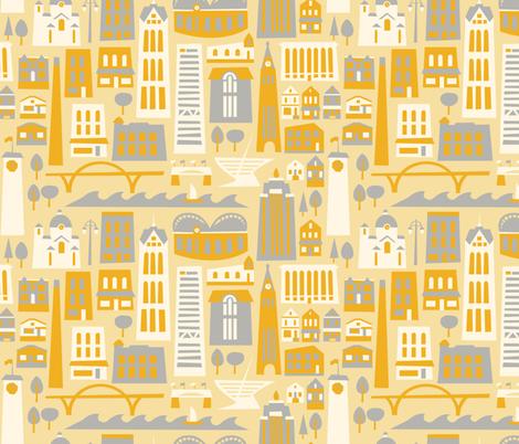My Fair Milwaukee - Cream fabric by allisonbeilkedesigns on Spoonflower - custom fabric