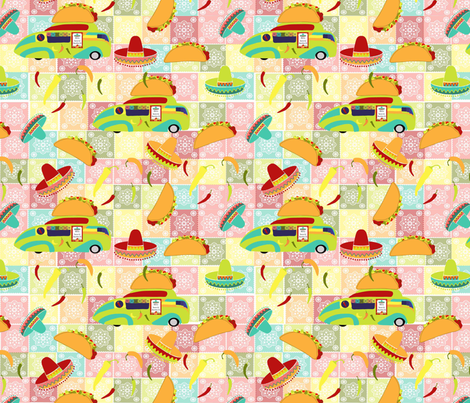 tacodemayowhite fabric by teal_feather on Spoonflower - custom fabric