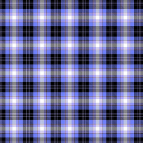 Blue and black plaid