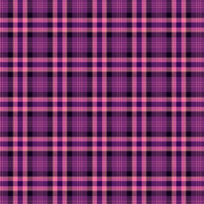 Violet and pink plaid