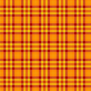 Orange and yellow plaid