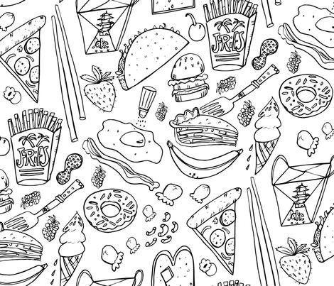 Junk Food fabric by pixabo on Spoonflower - custom fabric