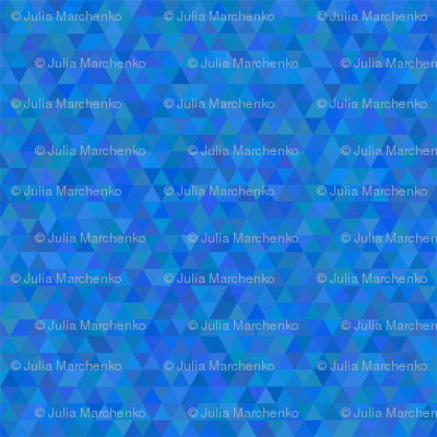 Seamless triangle pattern. Blue color