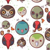Kawaii Styled New Zealand Birds