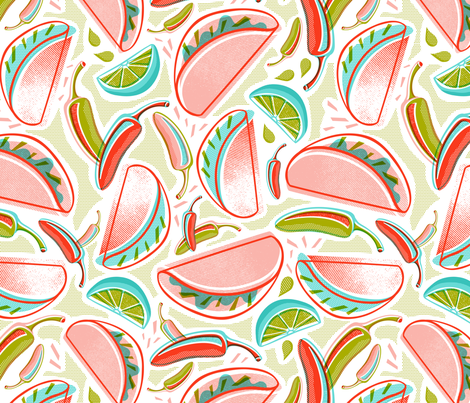 Taco Time fabric by heatherdutton on Spoonflower - custom fabric