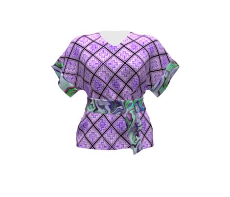 BNS6 - LG - Marbled Mystery Swirls in Blue - Green - Purple - Lavender