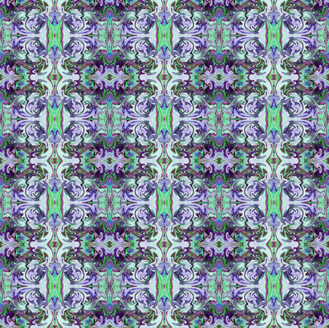 BNS6 - Tiny  Marbled Mystery Tapestry in Blue - Green - Purple - Lavender fabric by maryyx on Spoonflower - custom fabric